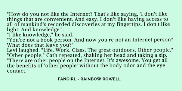 fangirl rainbow rowell other people on the internet it's awesome