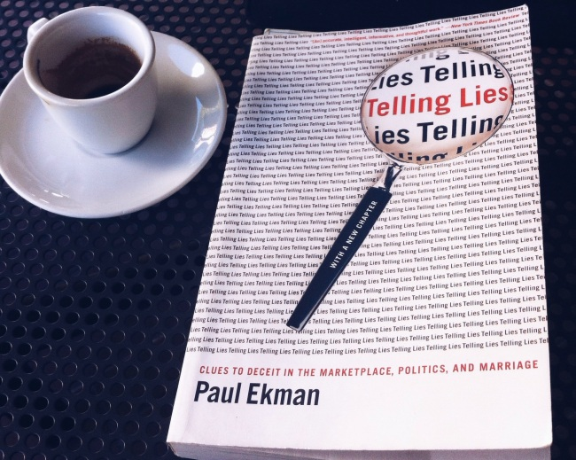 telling lies paul ekman nonverbal communication coffee book