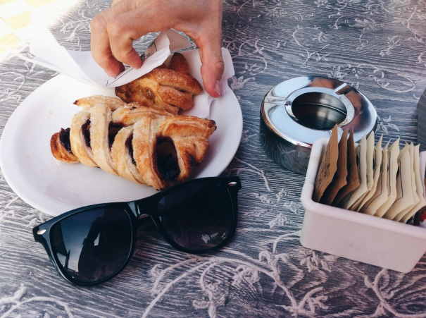 breakfast italian brioche sunglasses summer