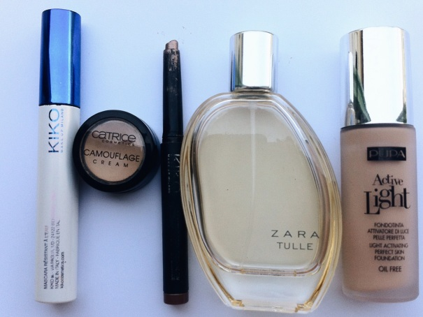my beauty essentials kiko catrice concealer zara perfume eyeshadow stick pupa foundation fondotinta